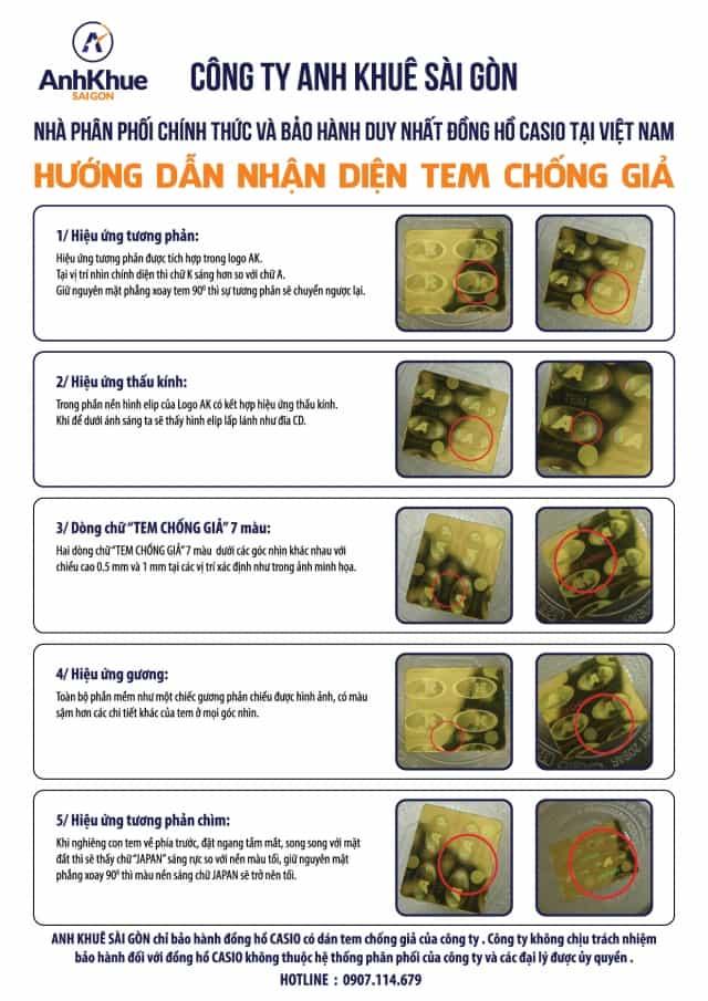 5 Bước Nhanh Nhất Phân Biệt Đồng Hồ G-Shock Chính Hãng Với Hàng Fake